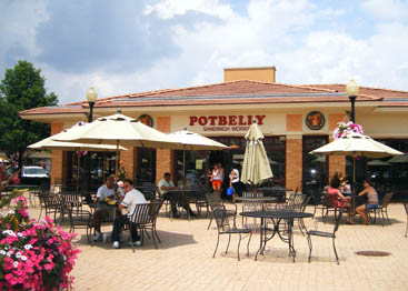 Potbelly Sandwich Works in Wheaton, Illinois